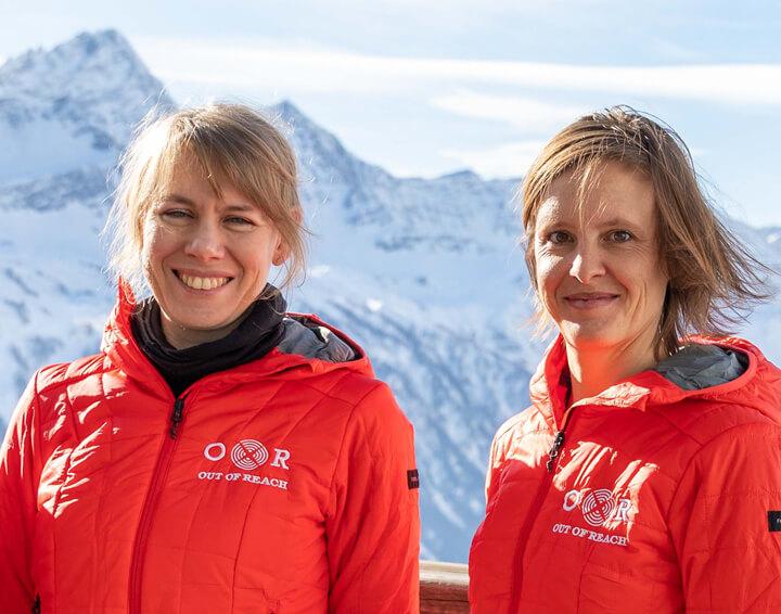 Felicie Royol et Sandrine Gaussein-Casanova à Chamonix, Out Of Reach